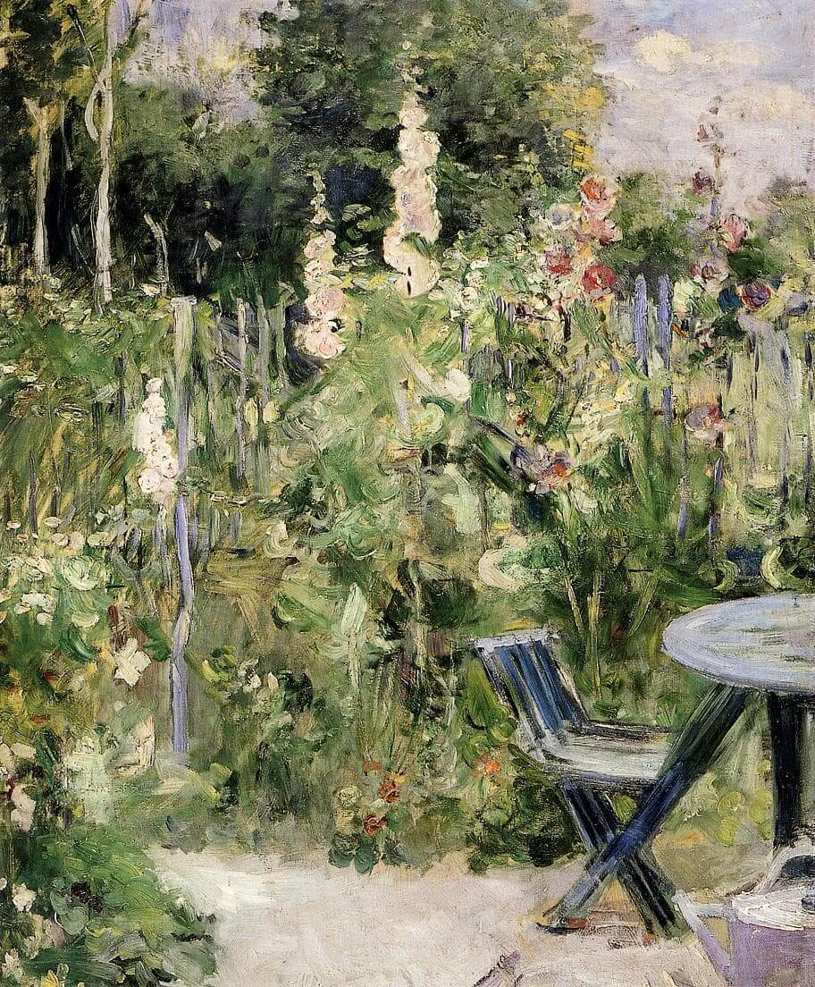 """Roses Tremieres"" by Berthe Morisot"